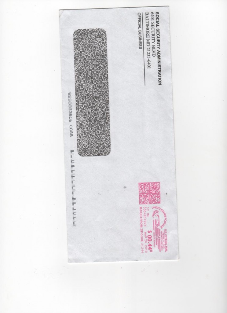 social security letter 03.25.10 envelope