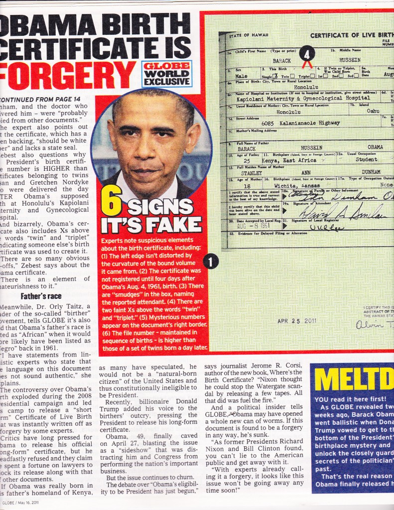 obama birth thesis Proof obama birth certificate fraud as we originally noted and has been mentioned by a number of electronic image experts, one of the most glaring details demonstrating obama's purported birth certificate is a fraud is the presence of digital artifacts.