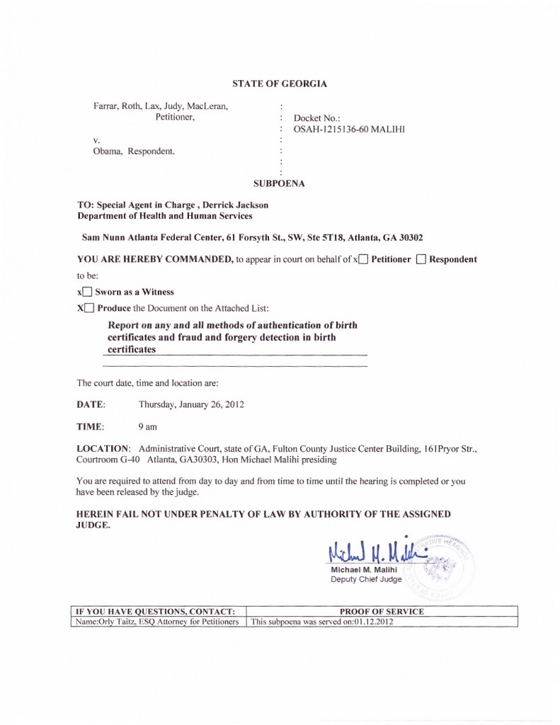Subpoena to appear at trial served on special agent in charge subpoena derrick jackson xflitez Choice Image