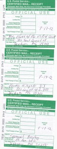 MS Motion to expedite certified mail receipt