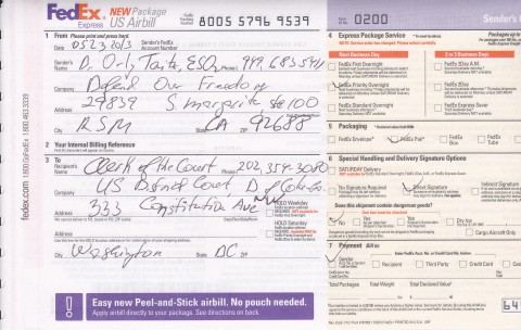 FedEx receipt Taitz v Astrue 05.23.13_0001