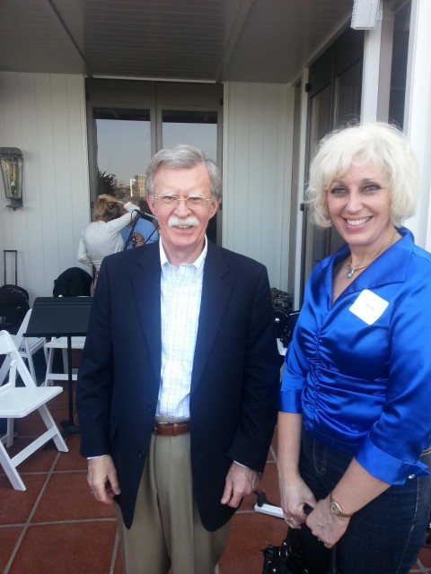Picture with the former U.S. Ambassador to the U.N. John Bolton